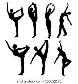 silhouette dance vector images collection