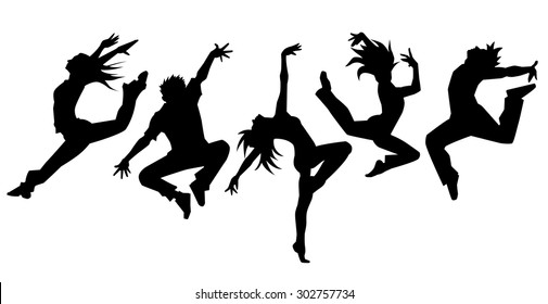 Silhouette of dancers (simple)