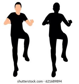 silhouette of dancing man