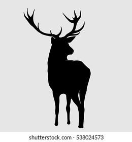 Silhouette of a deer.