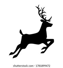 silhouette Deer. deer logo design template inspiration. vector illustration