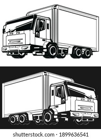 Silhouette Delivery Truck Logistic Cargo Box