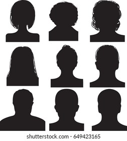 silhouette for document vector