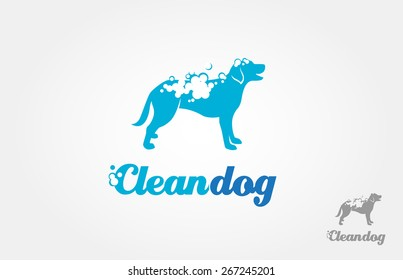 It's a silhouette of the dog logo, with foam on the body, it's look like bathing. This image good for pet washing services logo, pet care services, and others that related with pet or dog services.