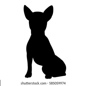 silhouette of a dog sitting