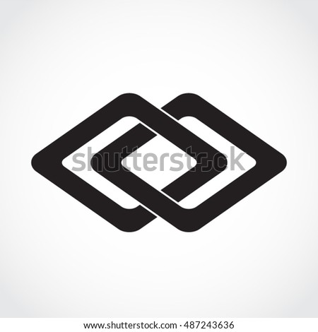 Silhouette Double Square Symbol Stock Vector Royalty Free