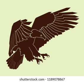 silhouette of eagle illustration