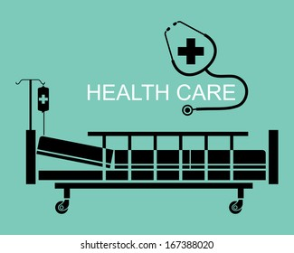 Silhouette elements, Health care concept, illustration vector design.
