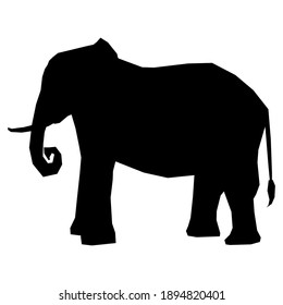 silhouette of an elephant and A abstract black and white elephant background design