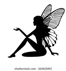 image about Fairy Silhouette Printable known as Fairy Silhouette Pictures, Inventory Photographs Vectors Shutterstock