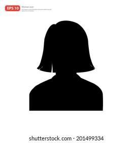 Silhouette Female avatar profile picture icon