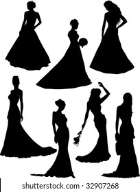 silhouette of fiancee