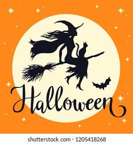 Halloween Stencil~Vintage~A JOYOUS HALLOWEEN~Crow Moon Stars Old Looking