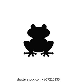 Silhouette of a frog.. Vector concept illustration for design.