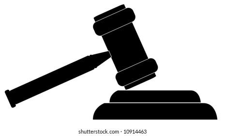 silhouette gavel hammer judge auctioneer vector stock photo photo rh shutterstock com gavel vector icon gavel vector art