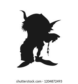 silhouette of goblin monsters