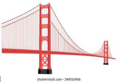 silhouette of golden gate bridge in red color