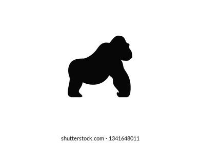Silhouette of Gorilla