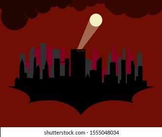 Silhouette Gotham, Dark Gotham, Gotham City