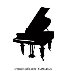 Silhouette of grand piano