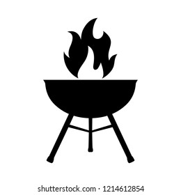 Silhouette grill icon – vector for stock