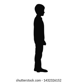 silhouette of a guy, a boy stand