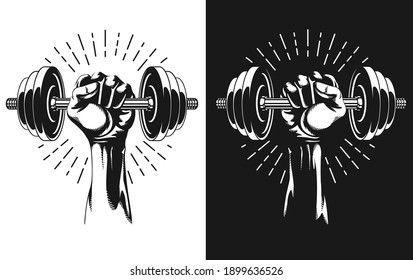 Silhouette Hand Workout Adjustable Weight Dumbbells