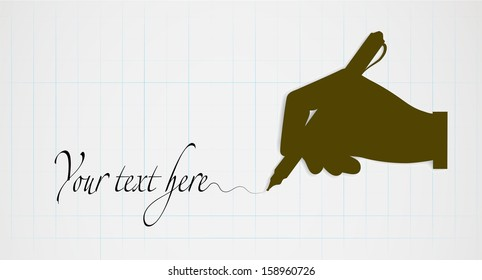 silhouette of hands on leaf background with space for your text