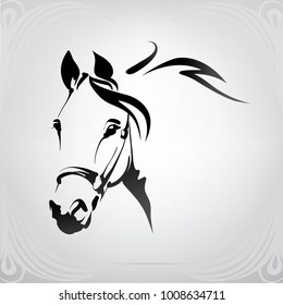 Silhouette of the head horse