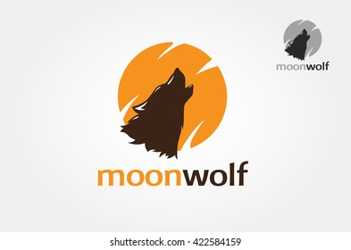 Silhouette Head Howling wolf logo vector
