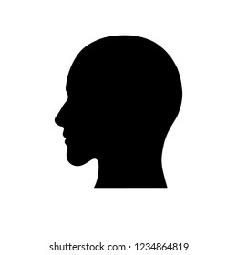 Silhouette of a head - vector