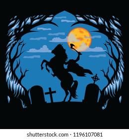 silhouette headless horseman