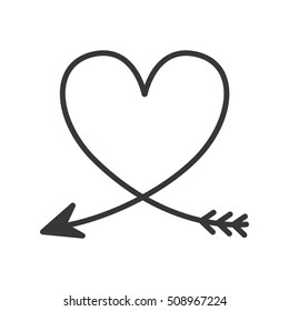 heart arrow stock vectors images vector art shutterstock rh shutterstock com Black Heart with Arrow Clip Art hearts with arrow clip art black and white