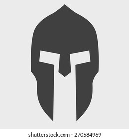 Silhouette of helmet. Vector Illustration isolated on background.
