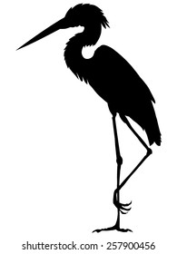 silhouette of heron