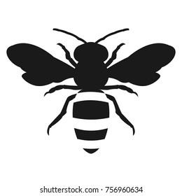 silhouette honey bee icon
