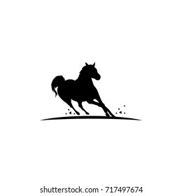 silhouette Horse, vector Illustration for logo template