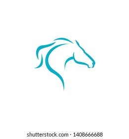 silhouette of a horse's ,Mustang, stallion, mascot, wild horse, arabic beast for race icon. Mad eye. Sport hockey, football, rugby logo design template