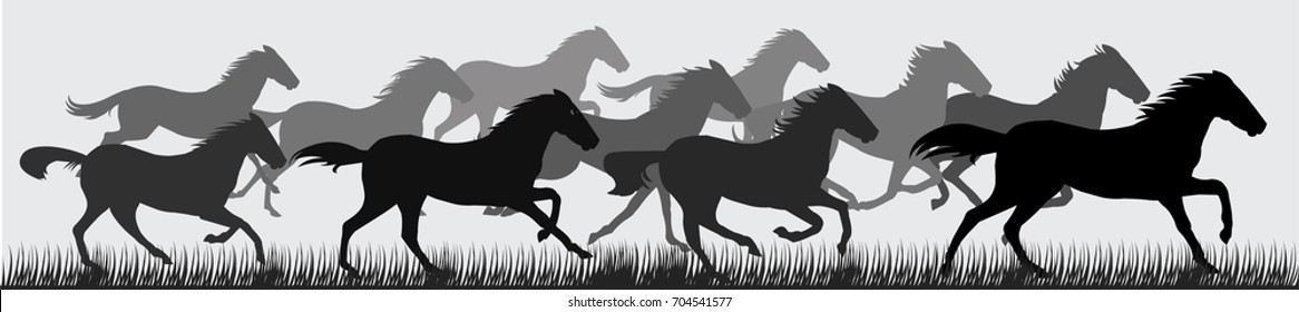 Running Horse Silhouette Images Stock Photos Vectors Shutterstock