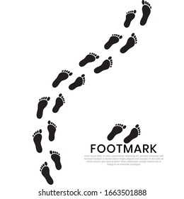 silhouette of human footprints. Baby footsteps icon. Footwear marks.