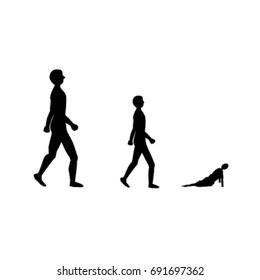 silhouette of human walking