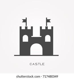 Silhouette icon castle