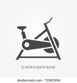 Silhouette icon exerciser bike