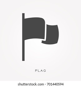 Silhouette icon flag