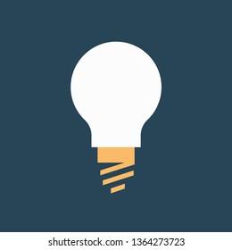 Silhouette icon light bulb pear