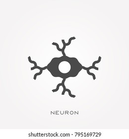 Silhouette icon neuron