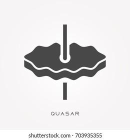 Silhouette icon quasar