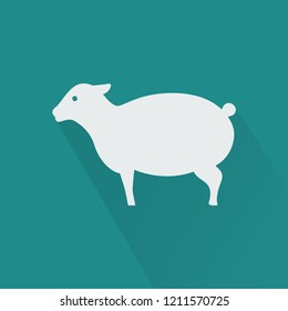 Silhouette icon sheep