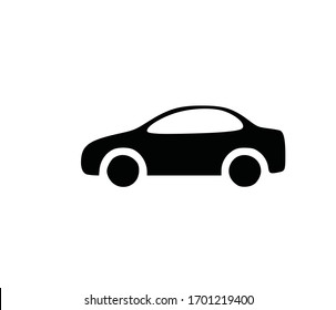 silhouette icon vector car black isolated