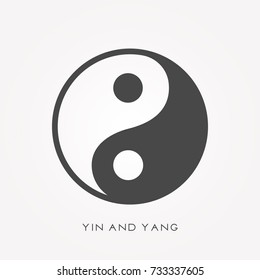 Silhouette icon yin and yang